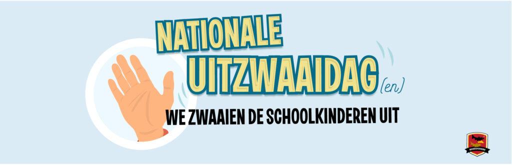 De poster van Nationale Uitzwaaidag door Boze Ouders